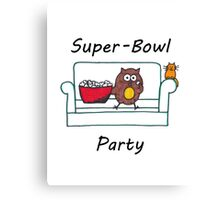 Introvert Superbowl party Canvas Print