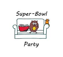Introvert Superbowl party Photographic Print