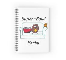 Introvert Superbowl party Spiral Notebook