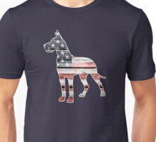 Patriotic Great Dane Unisex T-Shirt