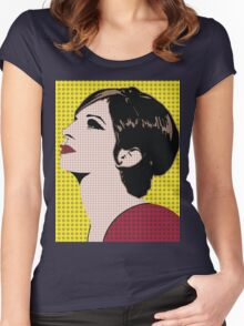 The Barbra Collection Women's Fitted Scoop T-Shirt