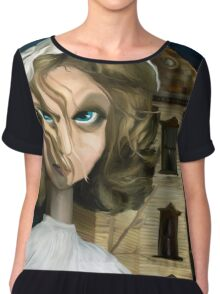 Dollhouse  - Gothic Art Chiffon Top