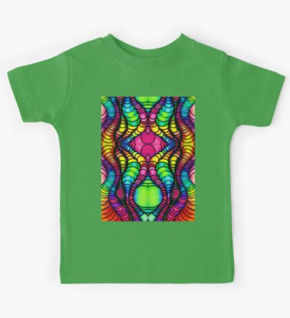 Colorful Tube Worms in Symmetry Kids Tee