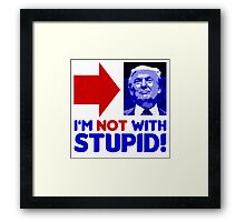 Not With Trump Framed Print