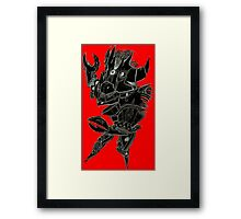 Black and Red Pointy Guy Framed Print