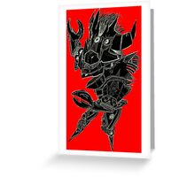 Black and Red Pointy Guy Greeting Card