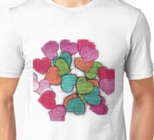 Paper Hearts Unisex T-Shirt
