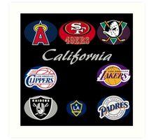 California Professional Sport Teams Collage  Art Print