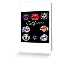 California Professional Sport Teams Collage  Greeting Card