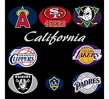 California Professional Sport Teams Collage  Photographic Print