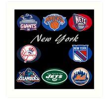New York Professional Sport Teams Collage  Art Print