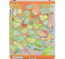 Leaves of Good Intention - Word Art Drawing iPad Case/Skin