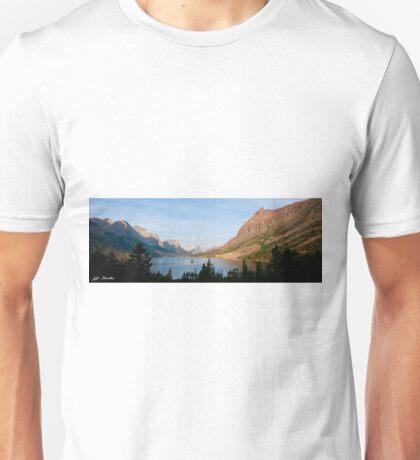 Saint Mary Lake and Wild Goose Island Unisex T-Shirt
