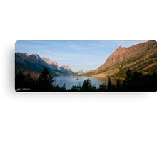 Saint Mary Lake and Wild Goose Island Canvas Print