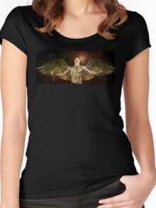 mike angel  Women's Fitted Scoop T-Shirt