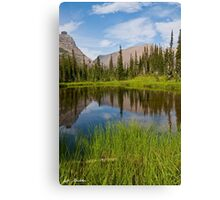 Mountains Reflected in an Alpine Lake Canvas Print