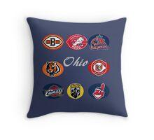 Ohio Professional Sport Teams Collage Throw Pillow