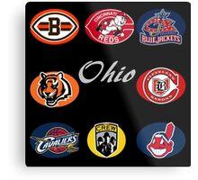 Ohio Professional Sport Teams Collage Metal Print