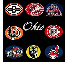 Ohio Professional Sport Teams Collage Photographic Print