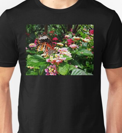 Torn Common Lacewing Butterfly (Cethosa biblis) Unisex T-Shirt