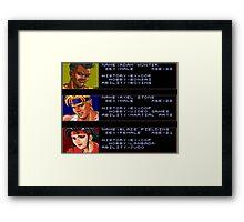 Adam, Axel, & Blaze Framed Print