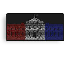 West Wing name poster Canvas Print