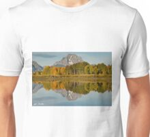 Mount Moran and Fall Colors Reflected in the Snake River Unisex T-Shirt
