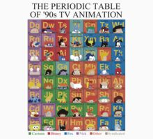 The Periodic Table of 90s TV animation Baby Tee