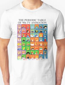 The Periodic Table of 90s TV animation Unisex T-Shirt