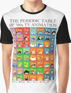 The Periodic Table of 90s TV animation Graphic T-Shirt