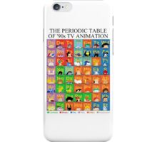 The Periodic Table of 90s TV animation iPhone Case/Skin