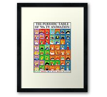 The Periodic Table of 90s TV animation Framed Print