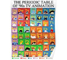 The Periodic Table of 90s TV animation Poster