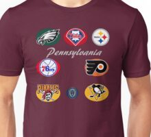 Pennsylvania Professional Sport Teams Collage  Unisex T-Shirt