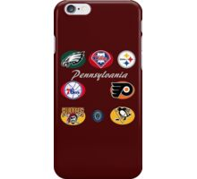 Pennsylvania Professional Sport Teams Collage  iPhone Case/Skin