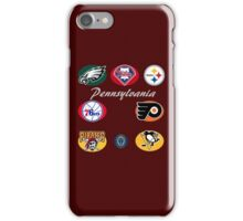 Pennsylvania Professional Sport Teams Collage  iPhone Case/Skin