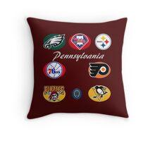 Pennsylvania Professional Sport Teams Collage  Throw Pillow
