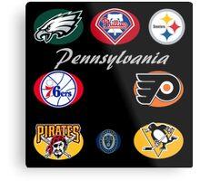 Pennsylvania Professional Sport Teams Collage  Metal Print