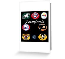 Pennsylvania Professional Sport Teams Collage  Greeting Card