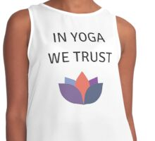 IN YOGA WE TRUST Contrast Tank