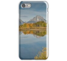Tetons and Fall Colors Reflected in the Snake River iPhone Case/Skin
