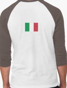 Italian Football Flag T-shirt - Italia Sticker Men's Baseball ¾ T-Shirt