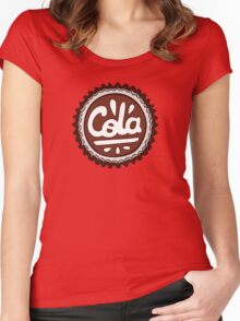 Cola Bottle Tops Pattern Women's Fitted Scoop T-Shirt