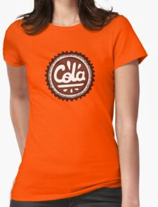 Cola Bottle Tops Pattern Womens Fitted T-Shirt
