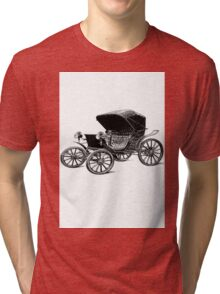 Old car carriage vintage, steampunk, old vehicle Tri-blend T-Shirt