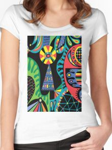 Mojo black Women's Fitted Scoop T-Shirt