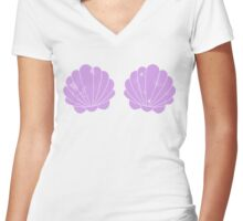 Mermaid Shells Women's Fitted V-Neck T-Shirt