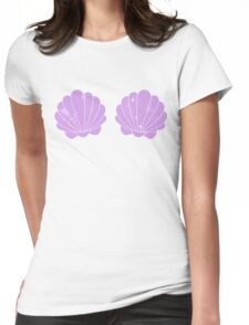 Mermaid Shells Womens Fitted T-Shirt