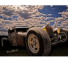Lowbrow Rat Rod - How Low Can U Go Babe Photographic Print