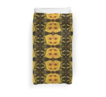 Yellow Bee Bloom Spider - Floral Boho Art Duvet Cover